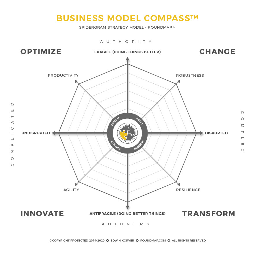 ROUNDMAP_Model_Business_Model_Compass_Spidergram_Copyright_Protected